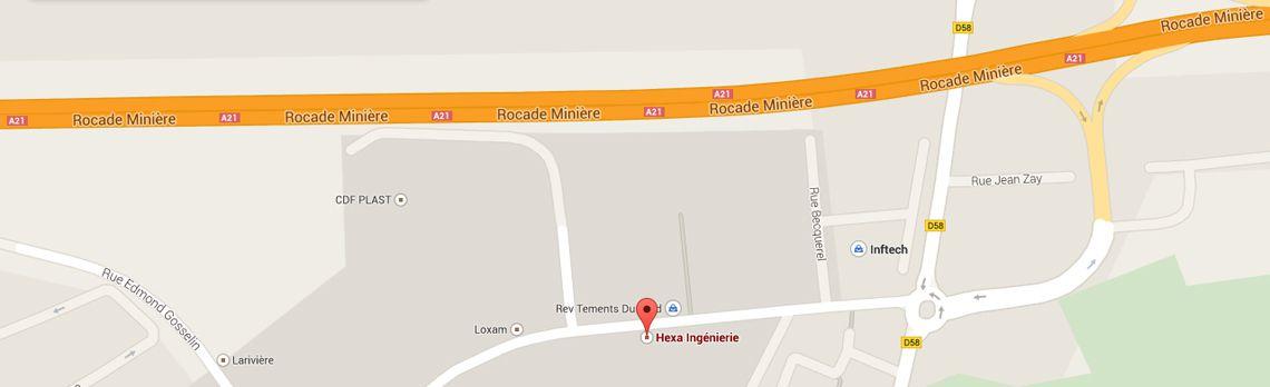 Localisez Hexa Ingénierie sur Google Maps
